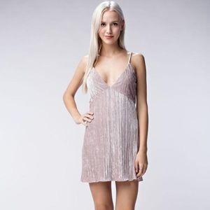 Light Pink Shimmer Velvet Dress